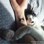 28 «Cattoos» minimalistes pour les fans de chats