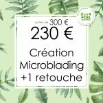 Offres Rentrée 2018 à Nice : 🔖Création Microblading à 230 € au lieu de 300 € avec 1 retouche comprise.